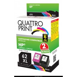 Pack 2 cartouches 62XL Quattro Print