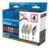Pack 4 cartouches d'encre compatible T0715 / T0895