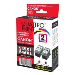 Pack 2 cartouches d'encre compatible Canon PG-545 XL / CL-546 XL