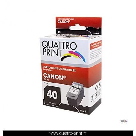Cartouche d'encre Quattro Print compatible Canon PG-40