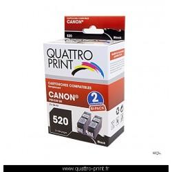 2 cartouches compatible Canon PGI-520 - noir