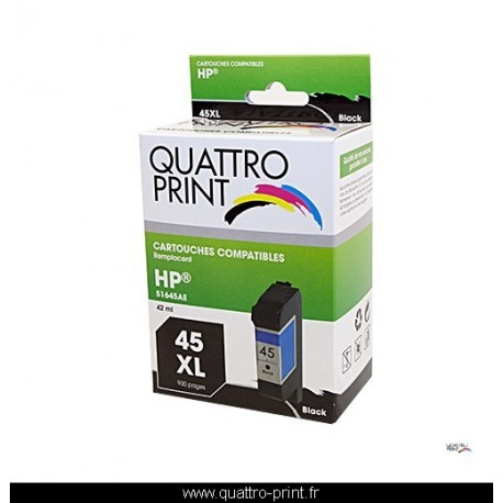 Cartouche quattro print compatible HP 45