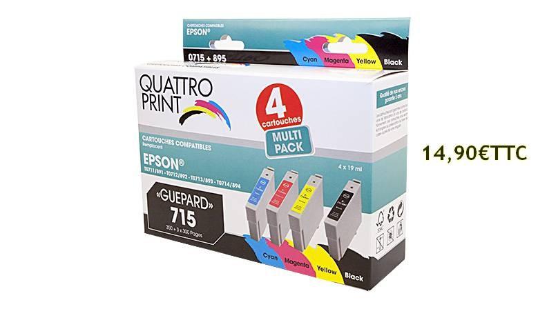 Pack 4 cartouches T0715 à 14.90€TTC